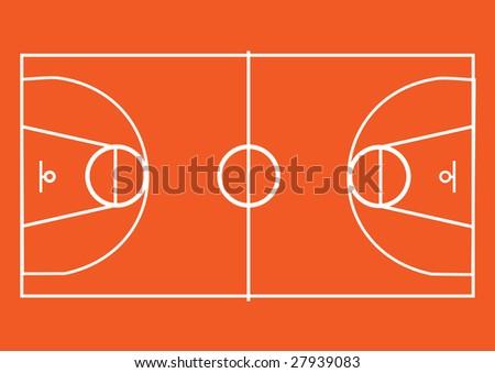 basketball pitch. Vector - stock vector
