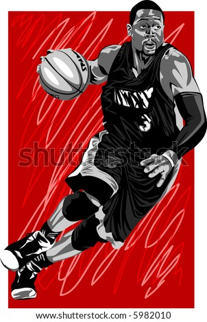 basketball player - stock vector