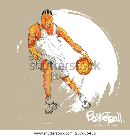 Basketball player. abstract background. vector illustration. - stock vector