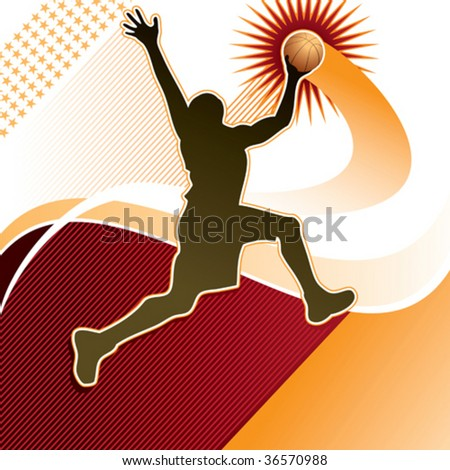 Basketball player background. Vector illustration. - stock vector