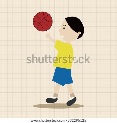 basketball player elements vector,eps - stock vector