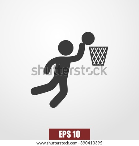Basketball Player icon vector - stock vector