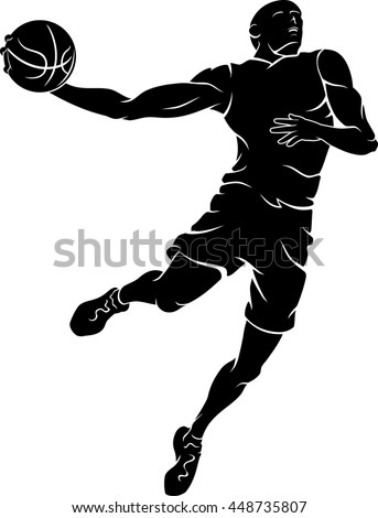 basketball player mid air stock vector hd royalty free 448735807 rh shutterstock com nba player vector basketball player vector free