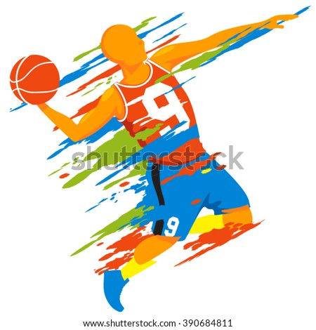 Basketball player vector design - stock vector
