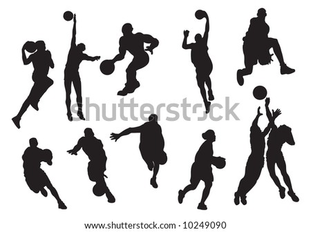 basketball player, vector, illustration - stock vector