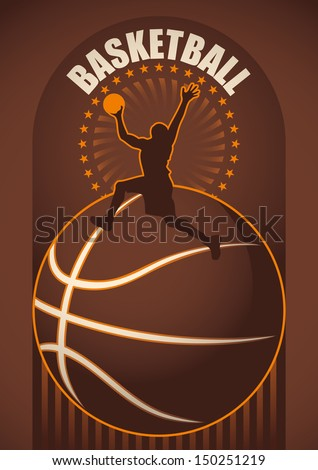 Basketball poster. Vector illustration. - stock vector