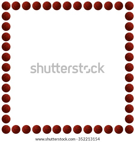 Basketball Put Frame Stock Vector 352213154 - Shutterstock