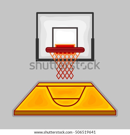 Basketball Ring . Sport Icon . Vector Illustration
