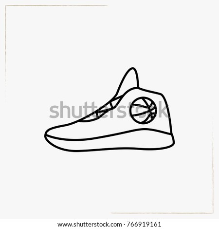 Basketball Shoes Line Icon