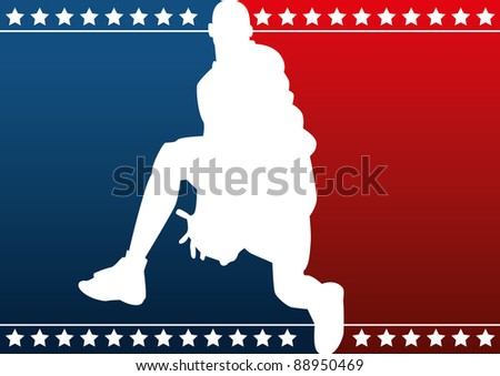 Basketball silhouette - stock vector
