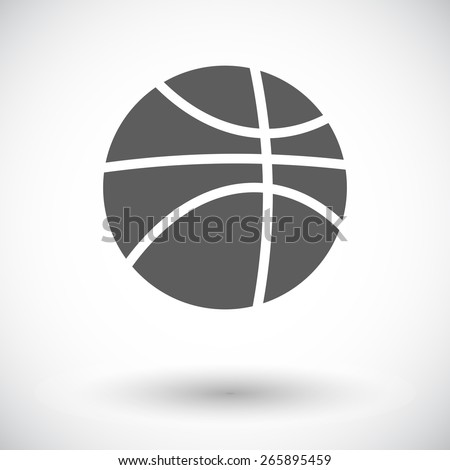 Basketball. Single flat icon on white background. Vector illustration. - stock vector