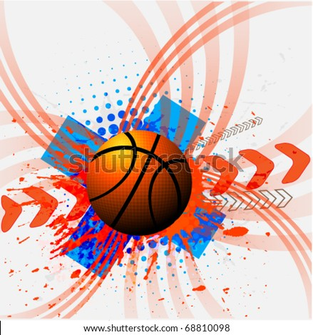 basketball sport design banner