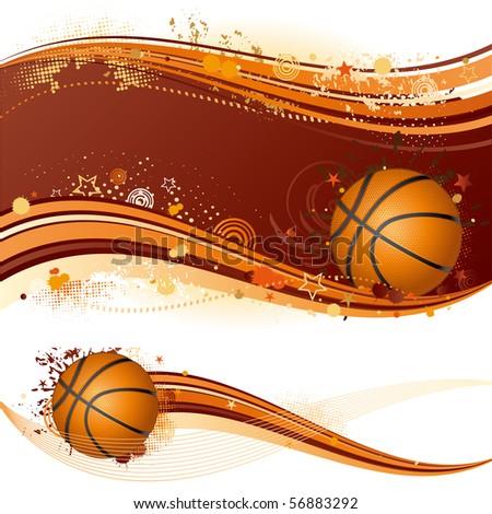 basketball sport design element - stock vector