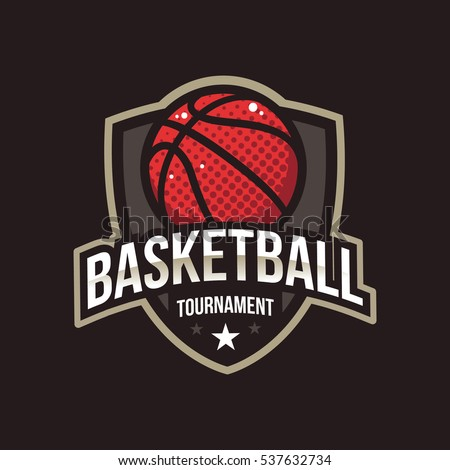Basketball Tournament Logos American Logo Sport Stock ...