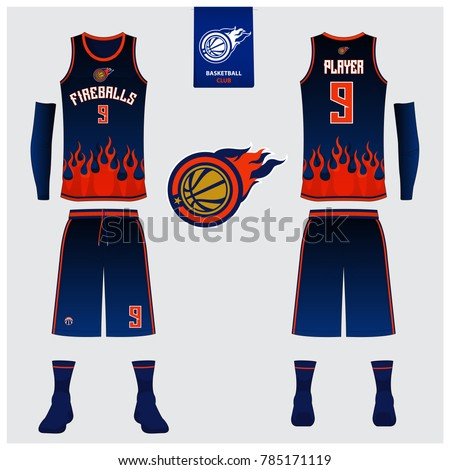 Blank basketball template stock images royalty free for Softball uniform design templates