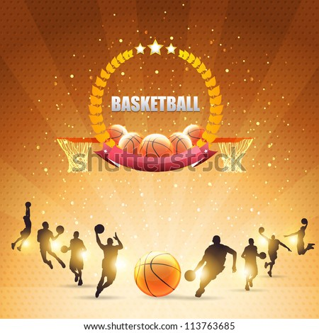 Basketball Vector Design - stock vector