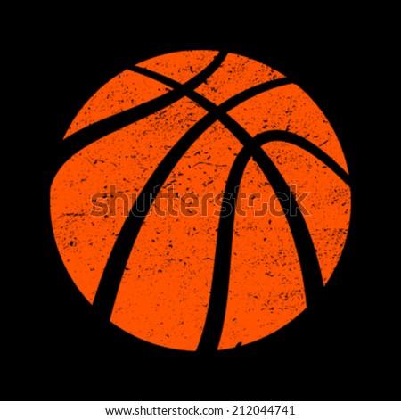 Basketball vector icon - stock vector