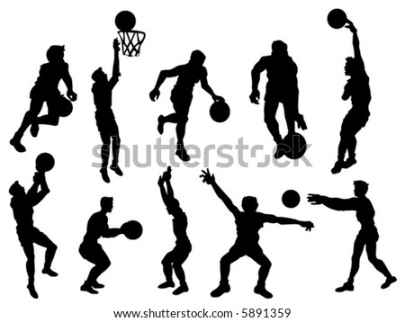 Basketball - Vector Silhouette