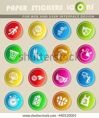 basketball web icons for user interface design