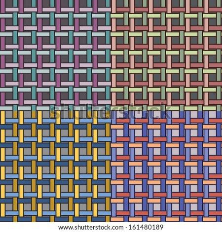 basketwork pattern 05 - stock vector