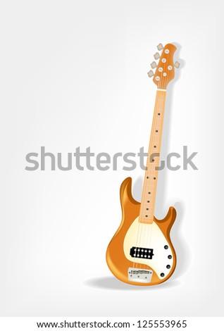 Bass guitar - stock vector