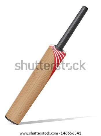 bat for criket cricet vector illustration isolated on white background - stock vector