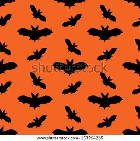 Bat Seamless vector pattern - stock vector