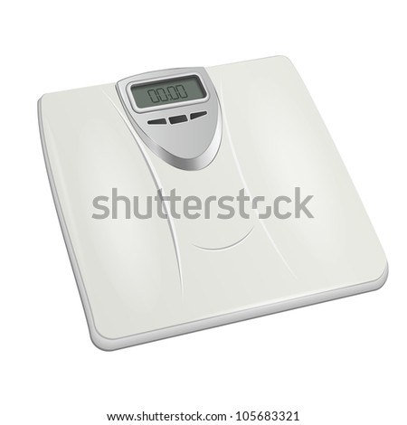 bathroom digital scale. vector - stock vector