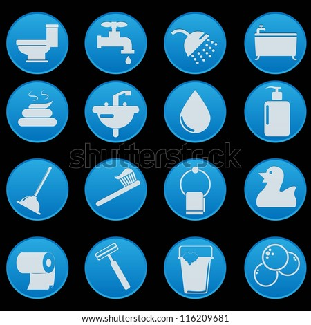 bathroom icon set with gradient style. Bathroom Icon Stock Images  Royalty Free Images  amp  Vectors