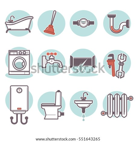 House Plumbing Information Board Vector Illustration Stock Vector 604382030 Shutterstock