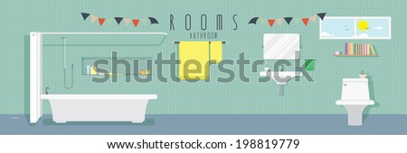 Bathroom (Rooms) - stock vector