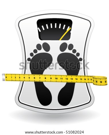 Bathroom scale icon for healthy weight concept. Vector symbol. - stock vector