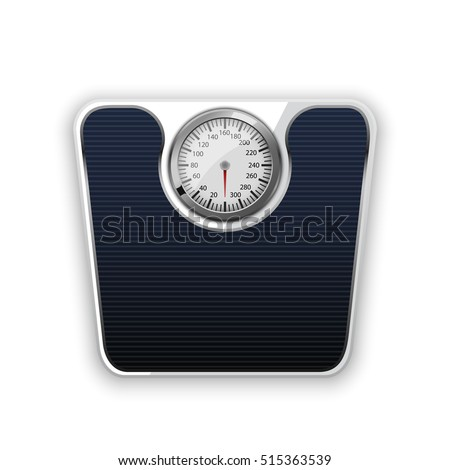 bathroom scale on a white background