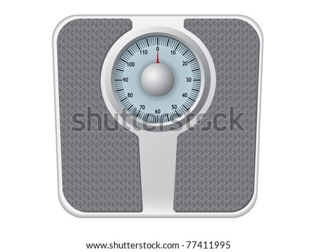 Bathroom scale vector - stock vector