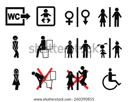bathroom symbol - stock vector