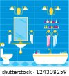Bathroom. vector - stock vector