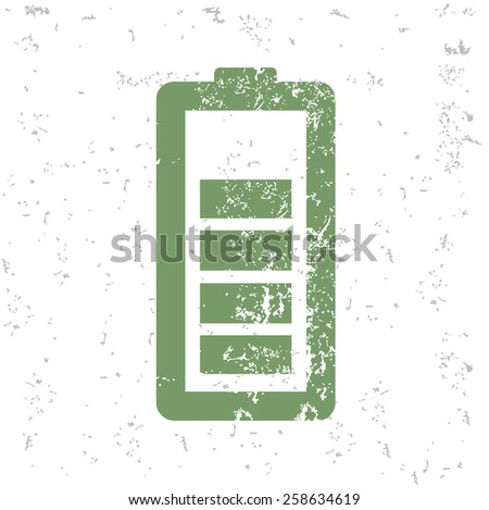 Battery and energy design on old paper,grunge vector - stock vector