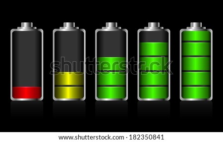 Battery charge status - stock vector
