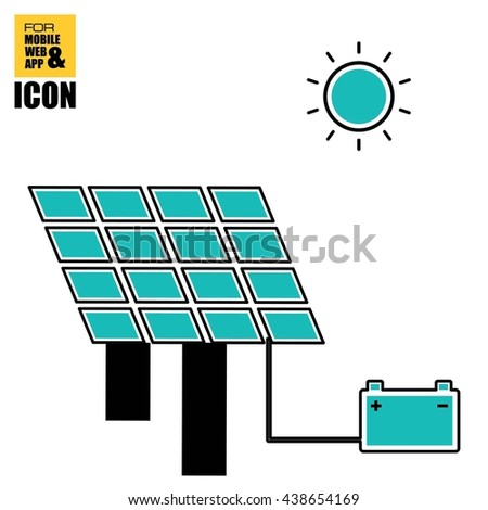 battery charging with solar panel icon-01