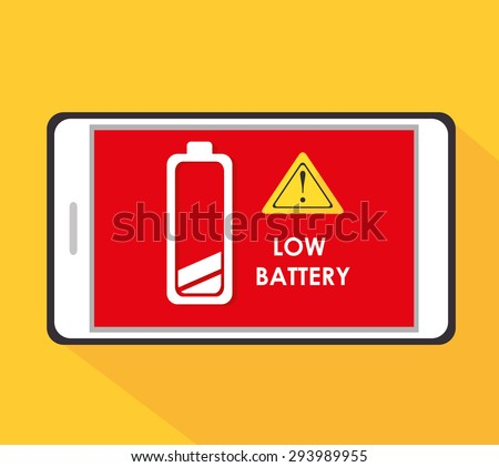 Battery digital design, vector illustration eps 10.