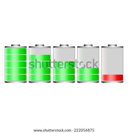 Battery for mobile - stock vector