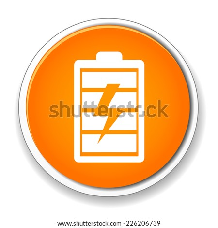 Battery fully charged sign icon. Electricity symbol.  - stock vector