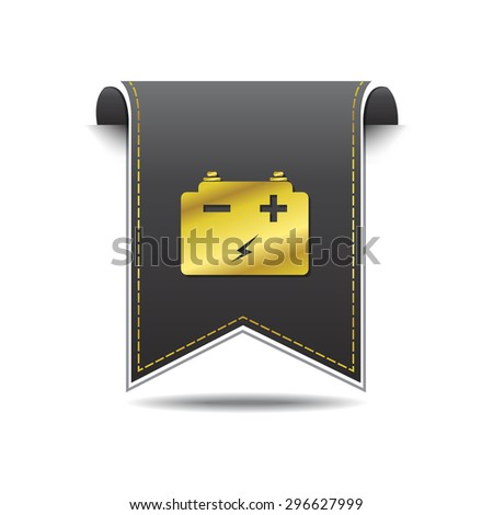 Battery golden Vector Icon Design