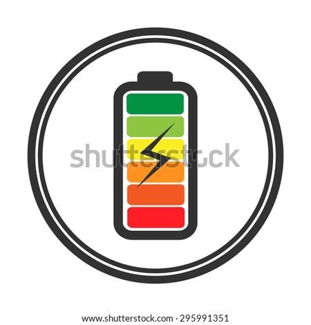 Battery icon. Battery charging icon. Battery charge level indicators. Vector. Illustration. - stock vector