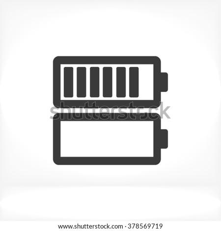 Battery Icon, battery icon flat, battery icon picture, battery icon vector, battery icon EPS10, battery icon graphic, battery icon object, battery icon JPEG, battery icon picture, battery icon image - stock vector