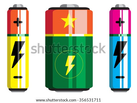 Battery icon, battery vector, battery isolated icons - stock vector