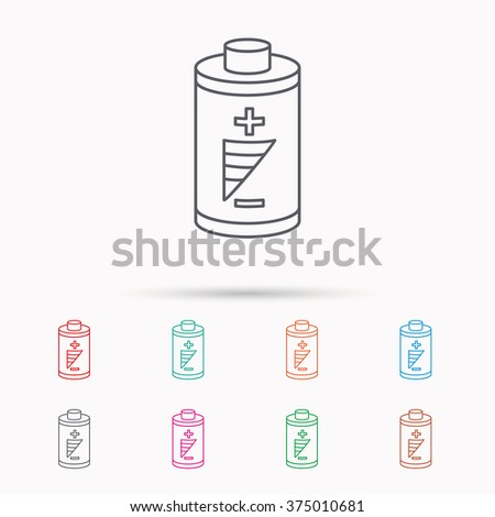 Battery Icon Electrical Power Sign Rechargeable Stock Vector (2018 ...