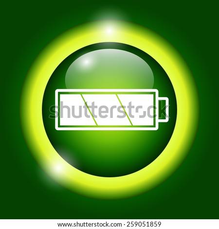 Battery icon. Flat vector illustrator Eps 10 - stock vector