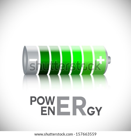Battery Icon - Isolated On White Background - Vector Illustration, Graphic Design Editable For Your Design. - stock vector