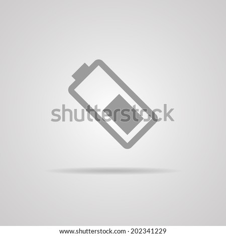 Battery icon on gray background. Vector illustration. EPS10 - stock vector
